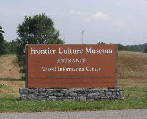 Frontier Culture Museum Outdoor Signs