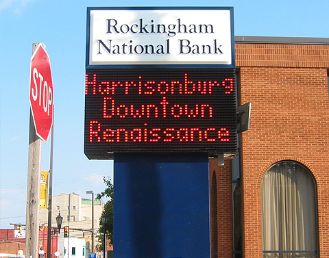 Rockingham National Bank Electric Sign