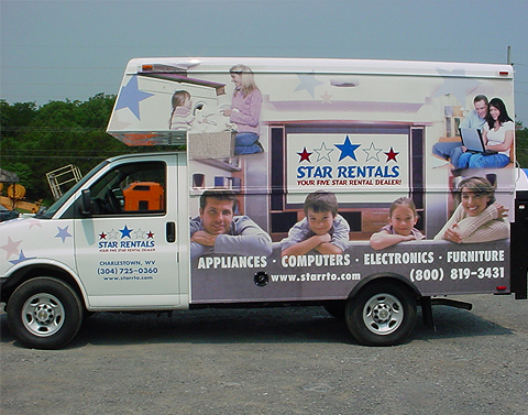 Star Rentals Vehicle Wrap