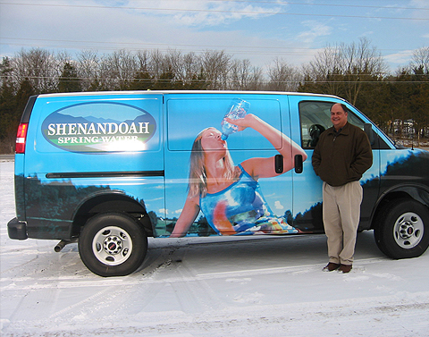 Shenandoah Spring Water Vehicle Wrap