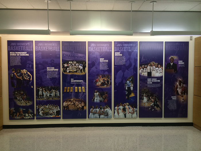 jmu convocation center informational banner