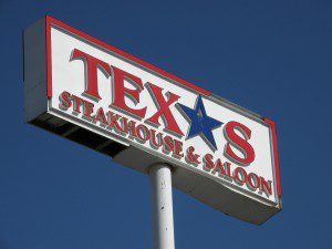 Broken Texas Steakhouse Outdoor Electric Sign