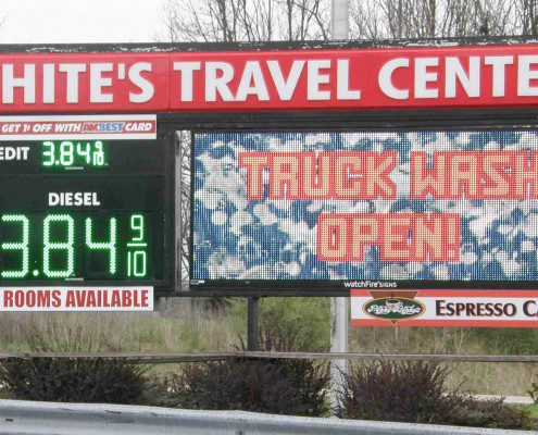 White's Outdoor Electronic Message Sign