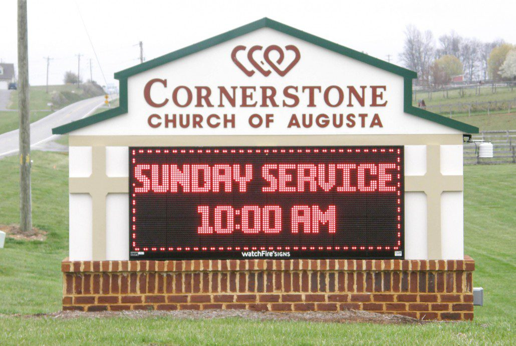 Cornerstone Church Outdoor Electric Sign