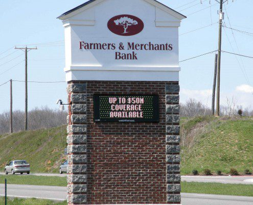 Farmer's & Merchant's Bank Outdoor Signs