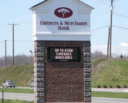 Farmer's & Merchant's Bank Outdoor Signs