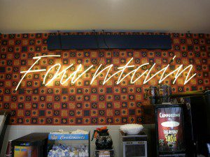 Fountain Neon Sign