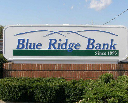 Blue Ridge Bank Outdoor Sign