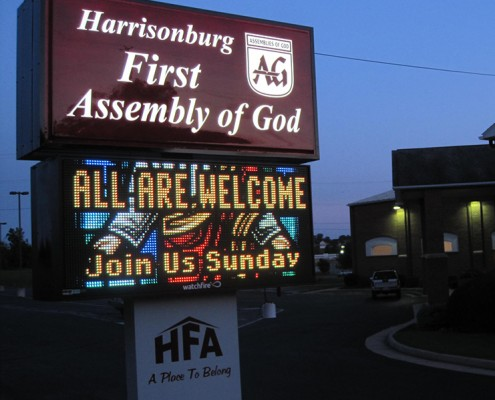 Harrisonburg First Assembly of God Electric Sign