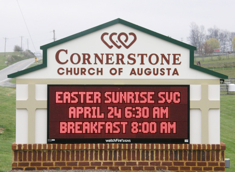 Cornerstone Church of Augusta Electric Sign