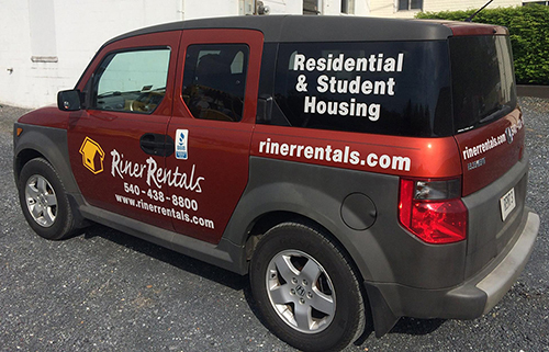 Riner Rentals Vehicle Wrap Harrisonburg