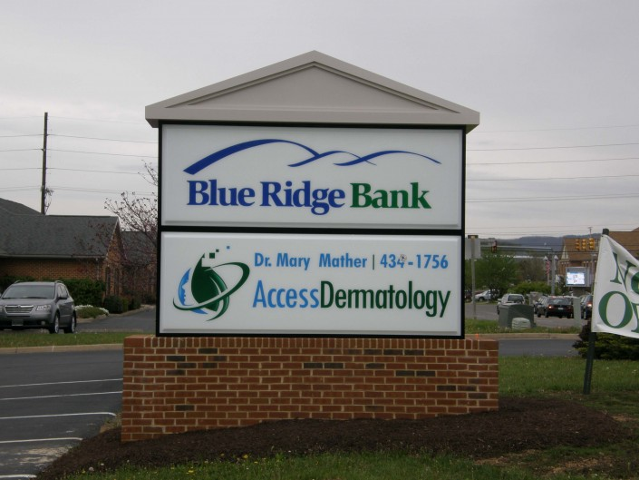 Blue Ridge Bank Outdoor Sign