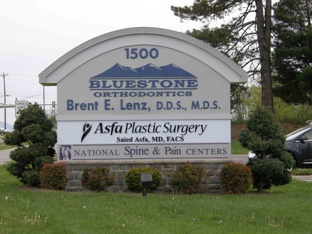 Bluestone Orthodontrics Outdoor Sign