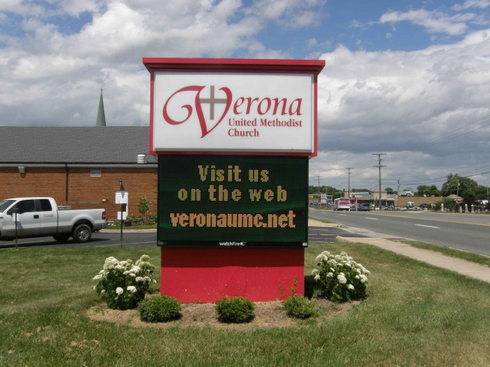 Verona United Methodist Outdoor Sign